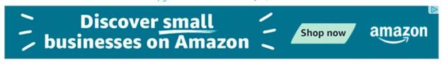 banner ad example from Amazon