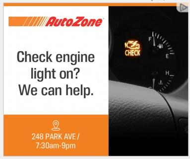 banner ad example from AutoZone