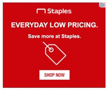 banner ad example Staples