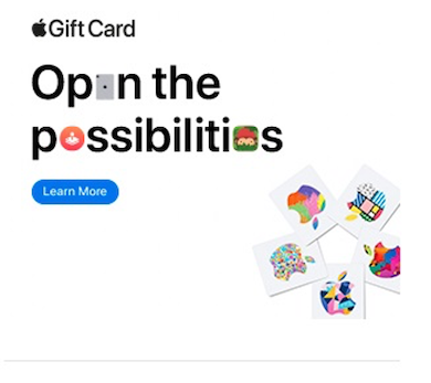 best display ads of 2020-apple gift card example