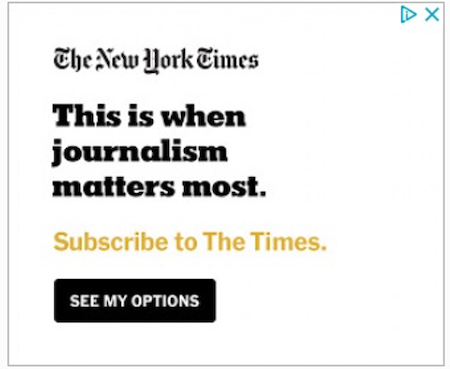 best display ads of 2020-new york times example