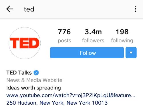 best instagram bios TED