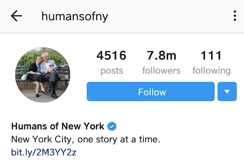 best instagram bios humans of NY
