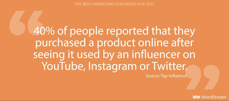 best marketing strategies for 2021-influencer marketing