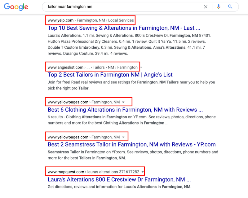 best ways to promote your business with or without money-local listings show in search results