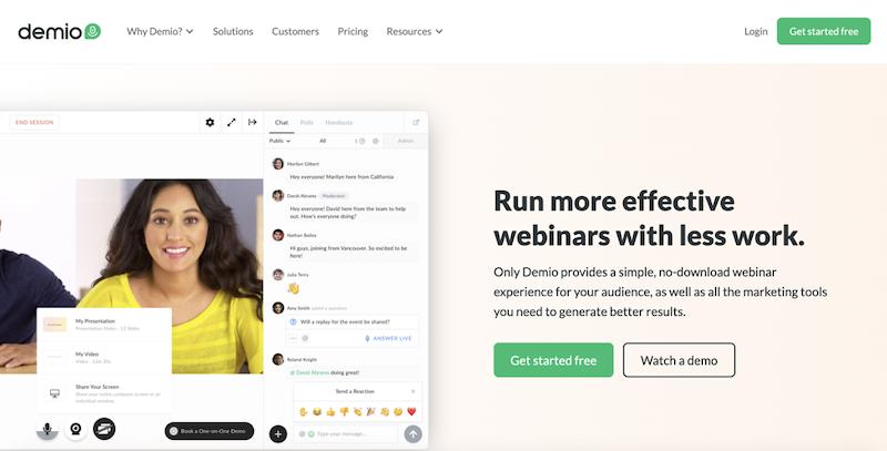 best webinar platforms 2020 Demio