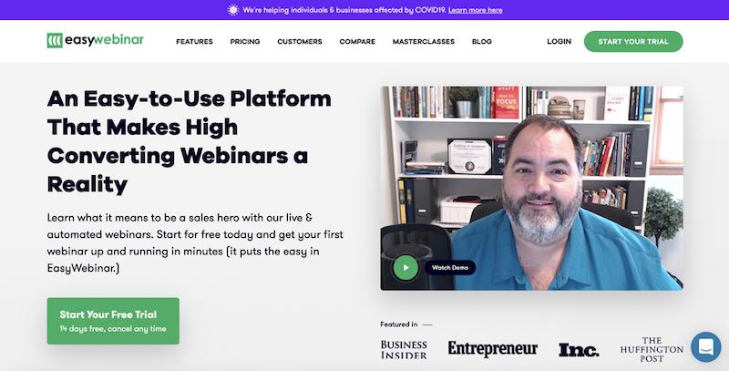 best webinar platforms 2020 easywebinar