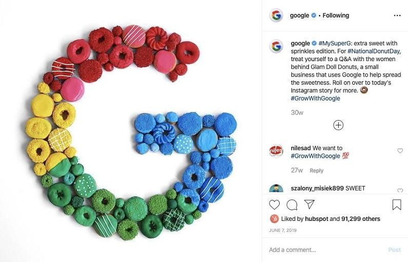 Best Business Instagram Account: Google