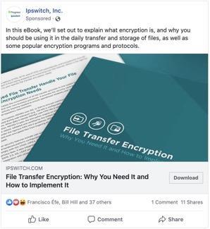 Facebook announcement example