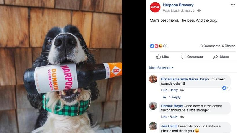 Harpoon Facebook image with product