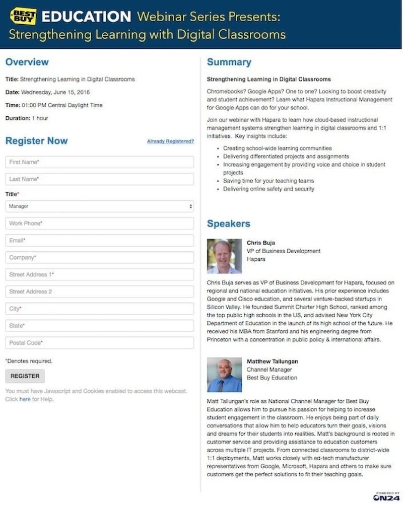 构建网络研讨会登陆页面的5个步骤,保证与会者的参与度