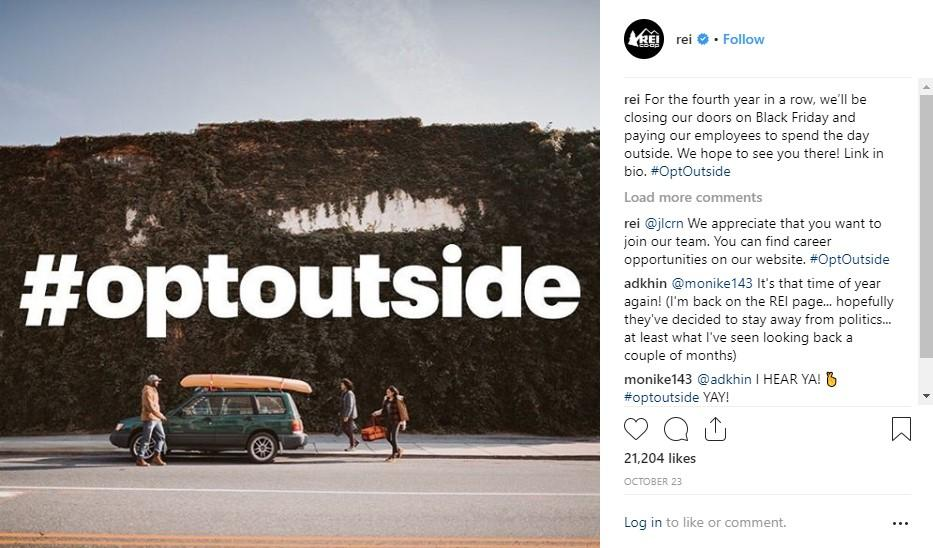 brand story rei opt outside campaign
