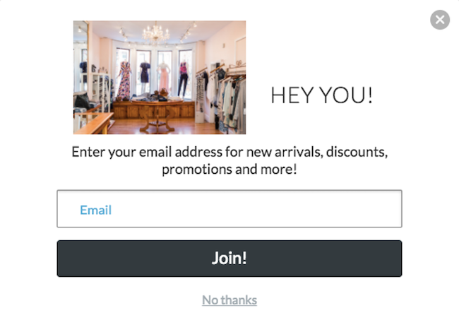 call to action examples for email newsletter signups crush boutique