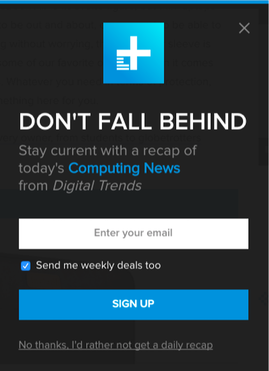 call to action examples for email newsletter signups digital trends
