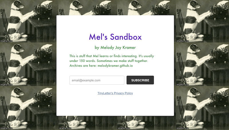 call to action examples for email newsletter signups mels sandbox