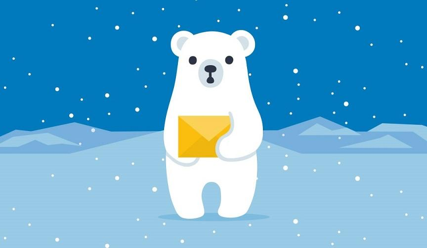 cold email with polar bear