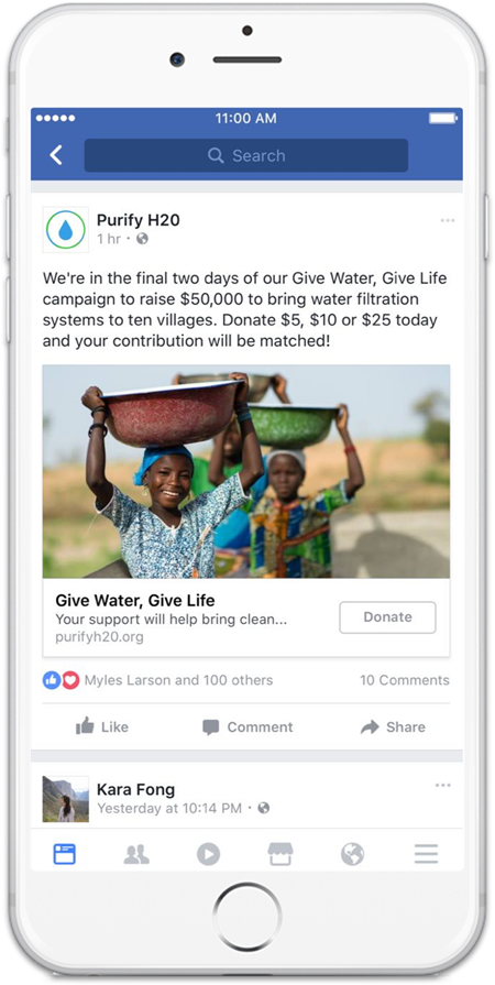 facebook ad examples for nonprofits