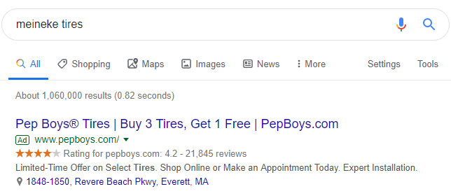 competitive-ads-pep-boys-vs-meineke