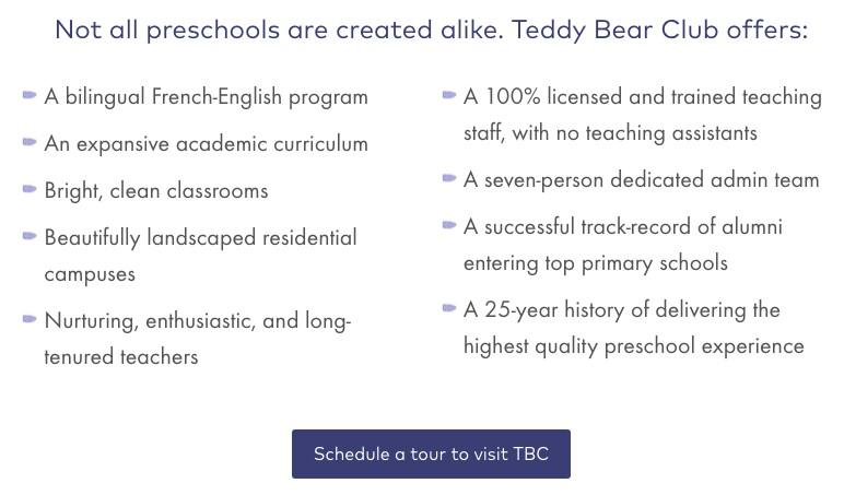 Teddy Bear Club CTA
