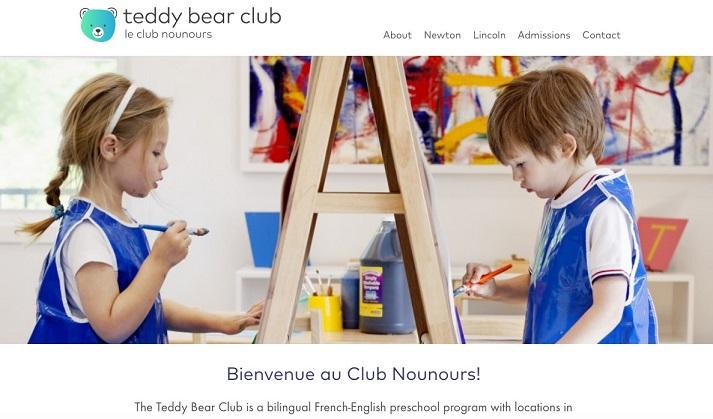 Teddy Bear Club landing page