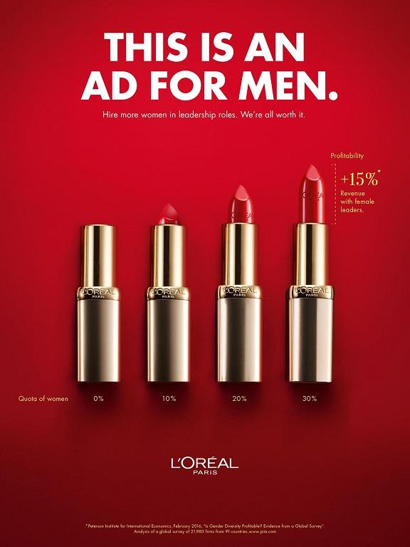 "L'Oreal ""This is an ad for men."""