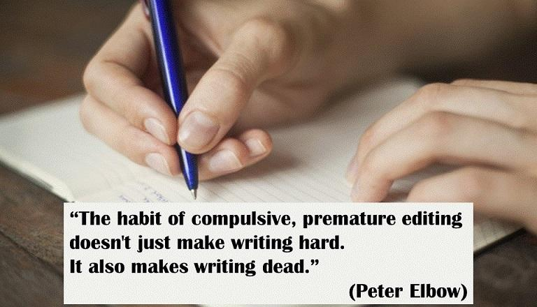 copywriting freewrite Peter Elbow quote