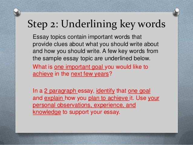 copywriting tip underlining keywords example