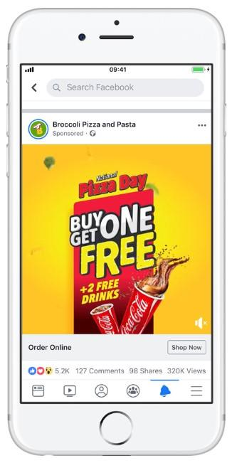 cost effective Facebook ads example