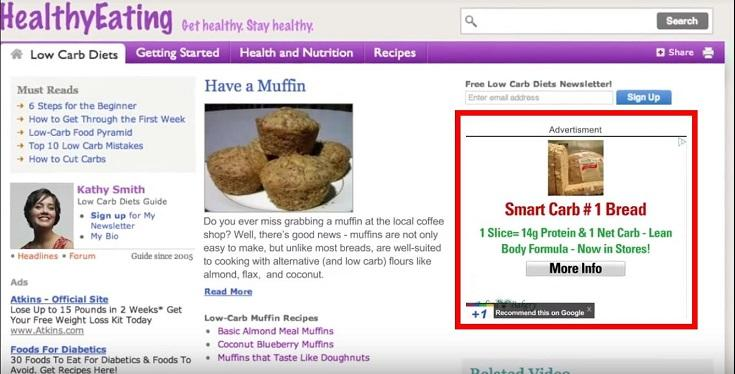 Google Display Network ad example
