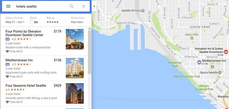 Google Maps Ad example