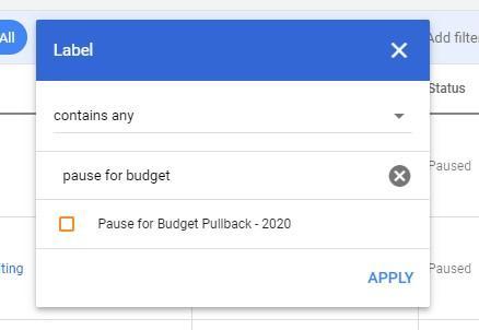 Google ads labels