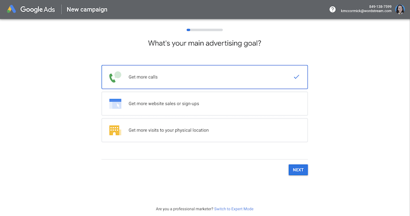 create-google-ads-account-new-campaign