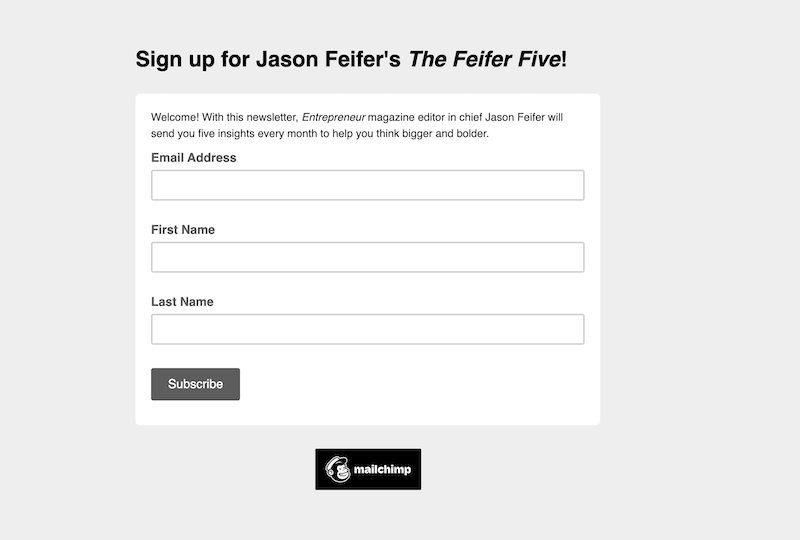 creative newsletter names feifer five