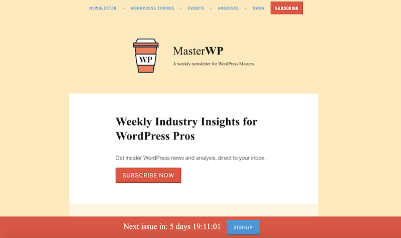 creative newsletter names masterWP
