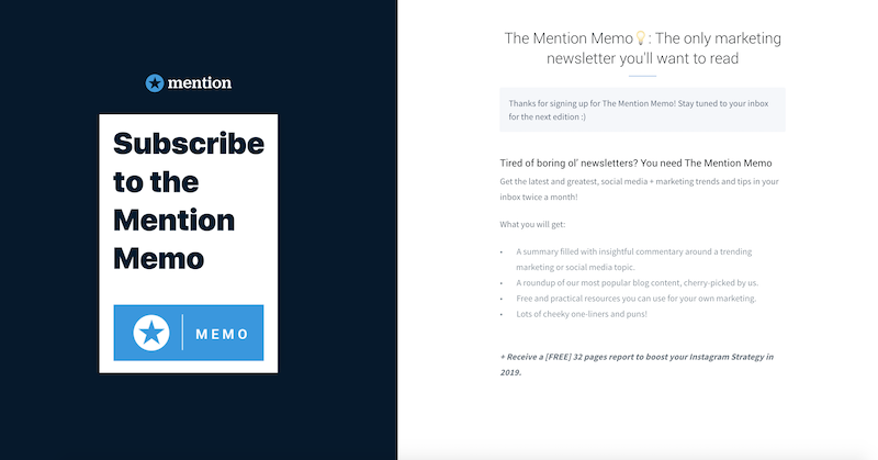 creative newsletter names mention memo