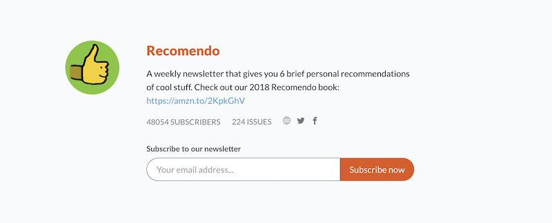 creative newsletter names recomendo