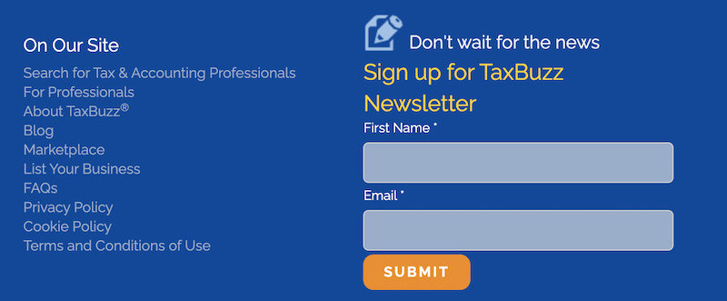 creative newsletter names taxbuzz