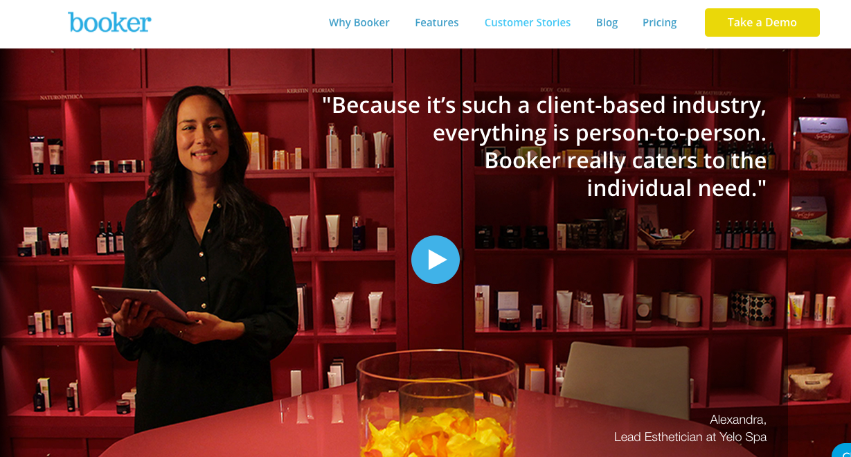 Customer Testimonial Pages Booker