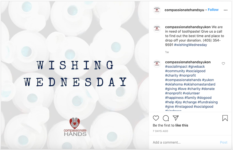 daily hashtags wednesday hashtags nonprofits #wishingwednesday