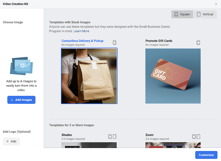 facebook's video ad creation kit