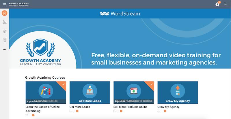 academia de crecimiento de habilidades de marketing digital wordstream