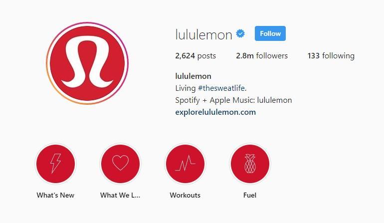 Instagram highlights example