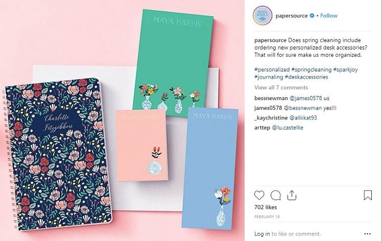ecommerce Instagram post example