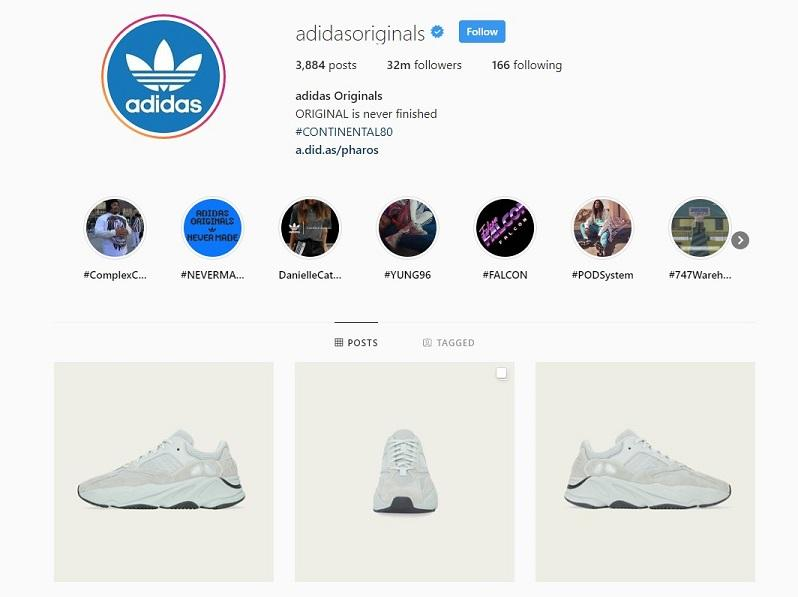 ecommerce brands product images on Instagram