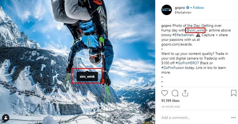 user-generated Instagram post example