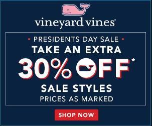 Anuncio de descuento de comercio electrónico Vineyard Vines
