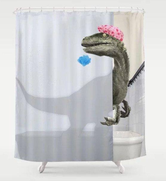 ecommerce-ppc-dinosaur-shower-curtain