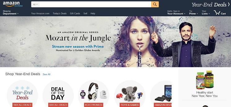 Amazon homepage 2016