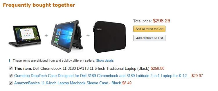 frequently purchased Amazon suggestions