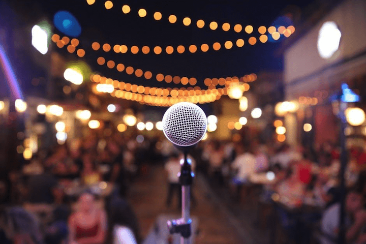 microphone as symbol of brand voice